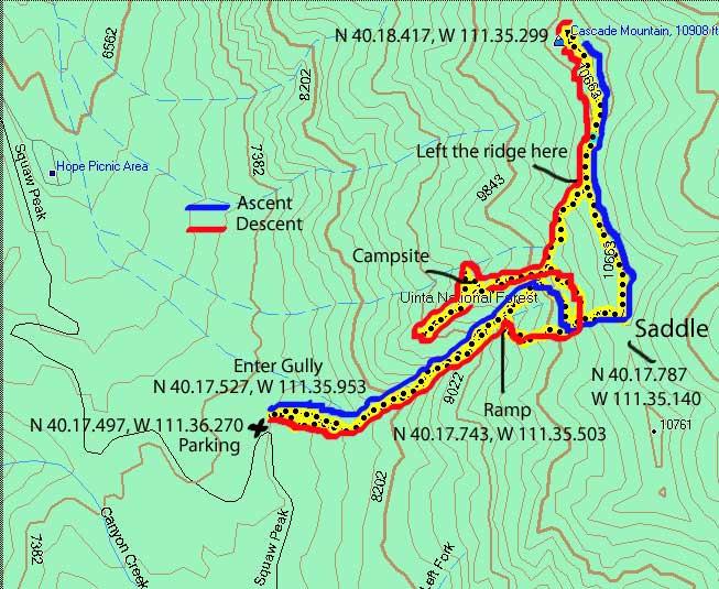 Cascade Mountain Provo Utah Hiking And Trail Running - Us map cascades mountain range